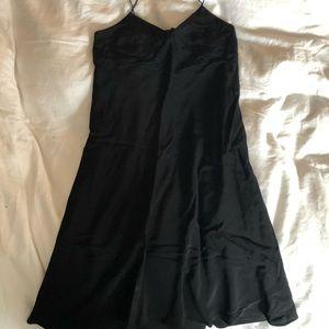 New madewell silk slip dress black strappy 00
